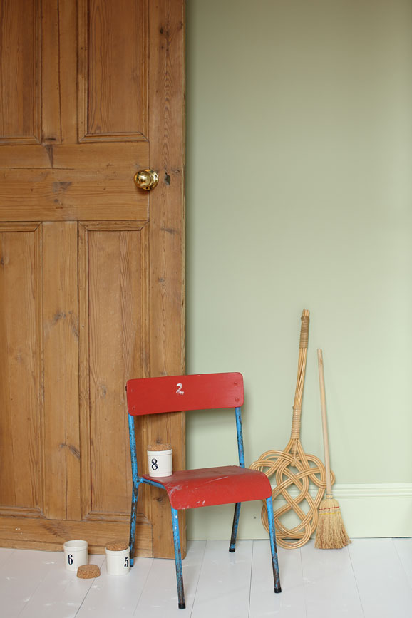 Wall painted in Cooking Apple Green