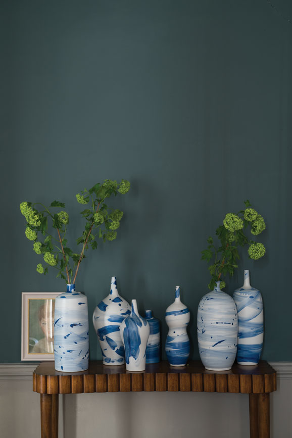 Wall painted in Inchyra Blue