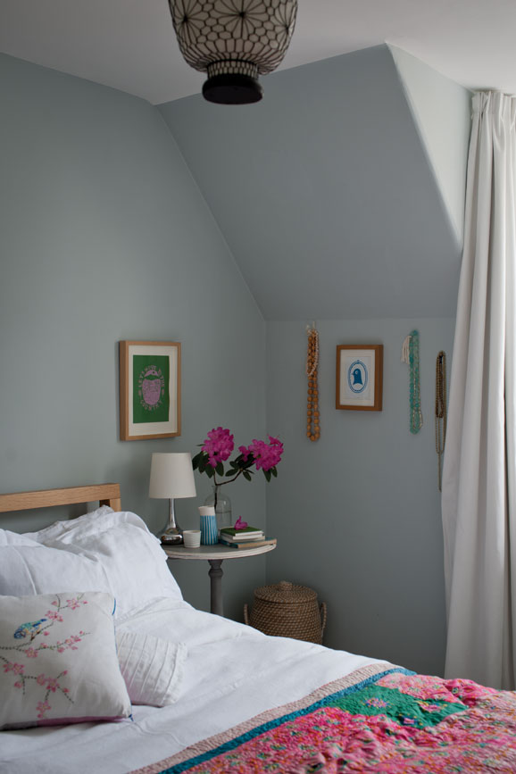 Bedroom painted in Light Blue