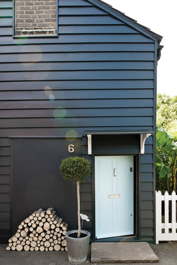 House painted in Farrow & Ball Off-Black.